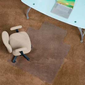 office chair mats for carpet phil teds high chairs aleco 174 anti static mat 45 quot x 53 with lip straight edge b360083 globalindustrial com