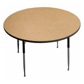 al s chairs and tables armless chaise lounge chair school furniture activity table round 48 quot diameter standard adj height light oak b437371 globalindustrial com