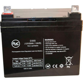 wheel chair batteries revolving without arm chargers accessories ajc 174 power patrol sla1156 12v 35ah wheelchair battery b1907134 globalindustrial com