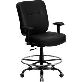 stool chair big w steel singapore stools tall hercules drafting with armrest leather black b1105793 globalindustrial com