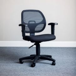 Office Chair Fabric Swivel Small Chairs Mesh With Arms Black 277436 Globalindustrial Com