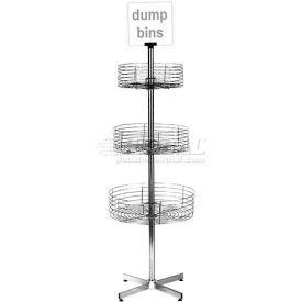revolving chair accessories cane bottom rocking retail display fixtures grocery displays marv o lus 3 basket dump bin step design chrome 1933 b1191110