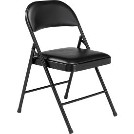 steel vinyl chair small rocking chairs folding with padded black pkg qty 4 607863bk globalindustrial com