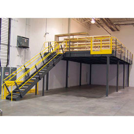 corrugated steel chair rail white arm pre engineered mezzanines stairs global industrial wildeck