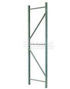 Interlake mecalux welded tear drop pallet rack upright frames  accessories also global industrial rh globalindustrial