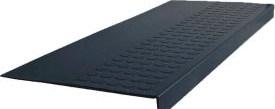 Flooring Carpeting Stair Treads Rubber Raised Circular Stair | Black Carpet Stair Treads | Bullnose | Slip Resistant | Interior | Gray | Indoor