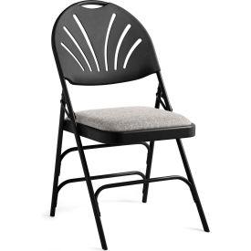 cloth padded folding chairs ergonomic chair hip pain samsonite xl series steel fanback fabric seat black b1529684 globalindustrial
