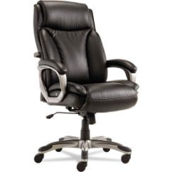 Alera Office Chairs Fishing Chair Toy Wow Leather Upholstered 174 Executive With Coil Spring Cushioning Black Veon Series B1135261