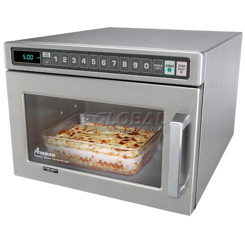 amana hdc12a2 commercial microwave 0 6 cu ft 1200 watts push buttons