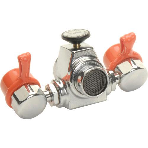 guardian equipment eyesafe faucet mount steel eyewash station assembled