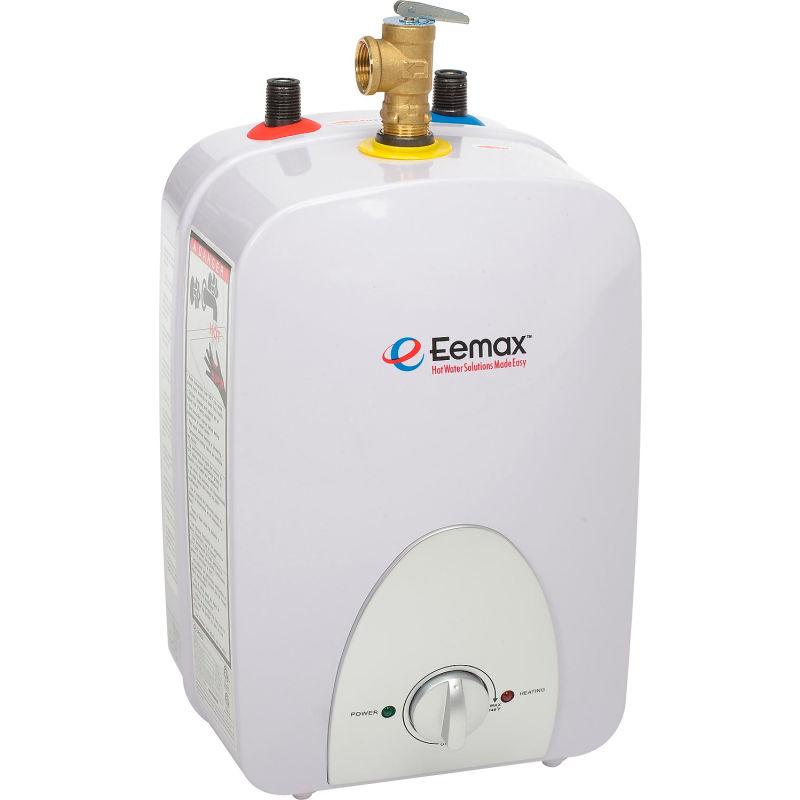eemax emt4 electric mini tank water heater 4 0 gallon 120v plug in