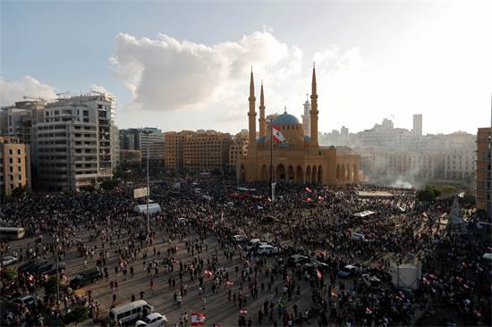 Many demonstrators gather in central Beirut / Photo: THAIER AL-SUDANI, Reuters