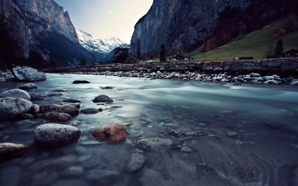 Fall Free Wallpaper Cave Switzerland Rivers Valley Rocks Hd Wallpaper 3840x2400