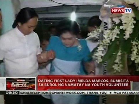 Dating First Lady Imelda Marcos, Bumisita Sa Burol Ng