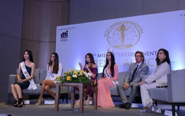 The Philippines will host the next Miss Intercontinental competition, pageant organizers announced on Thursday, October 4, 2018. Photo: Aya Tantiangco