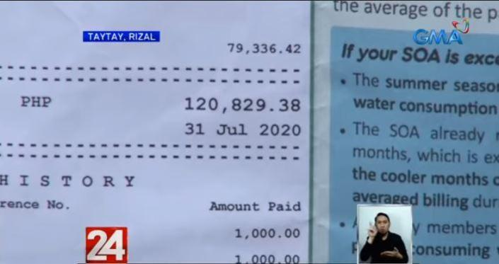 Water consumer billed P120K, asked to submit promissory note