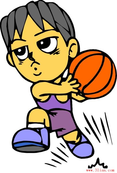 Gambar Kartun Bola Basket : gambar, kartun, basket, Basketball-vector, Sport-free, Vector, Download