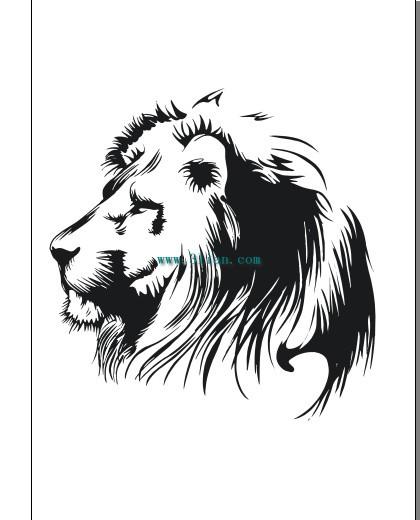 Gambar Singa Hitam Putih : gambar, singa, hitam, putih, Hitam, Putih, Singa, Kepala, Cdr-vektor, Misc-vektor, Gratis, Download