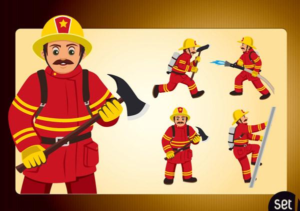 Kartun Pemadam Kebakaran Desainorangorang Vektorvektor