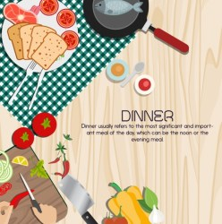 Simple Food Poster Background 1