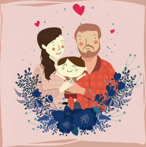 Gambar Kartun Ayah Ibu Dan Bayi