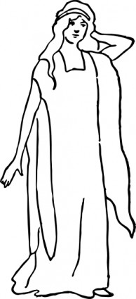 A Character Representing Faith Clip Art-vector Clip Art