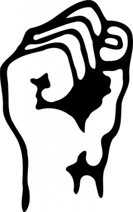 Tangan Kepal Png : tangan, kepal, Raised, Art-vector, Art-free, Vector, Download