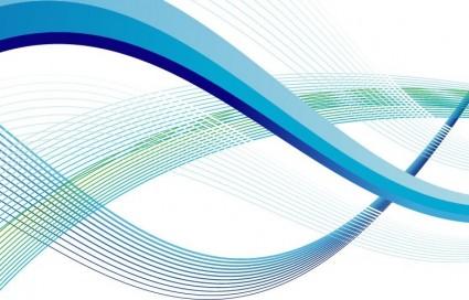 Seni Vektor Abstrak Gelombang GarisVektor Abstrakvektor
