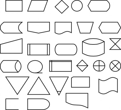 Flussdiagramm symbole oder