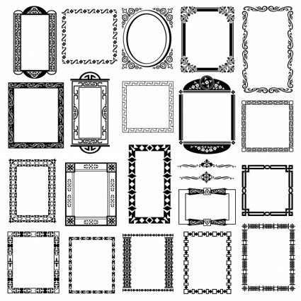 Black And White Pattern Frame Border Vector-vector Pattern