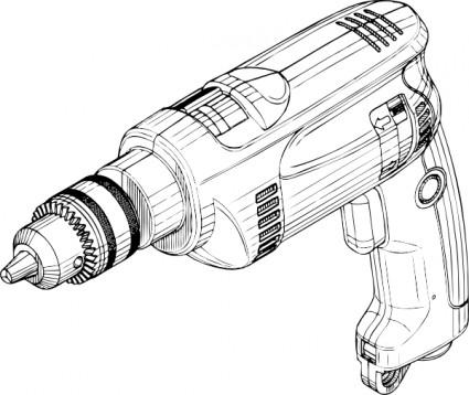 Bohrmaschine ClipArt-Vektor-ClipArt-Kostenlose Vector