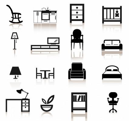 Möbel-Symbole-Vector Icon-Kostenlose Vector Kostenloser