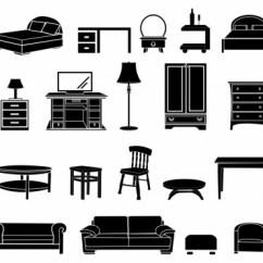 Black Sofa Chaise Longue Claire Icono De Muebles Para El Hogar Blanco Y Negro-icono ...
