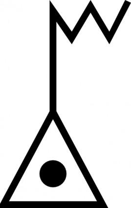 Japanese Map Symbol Electronic Datum Point Clip Art-vector