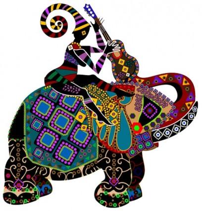 Minoritas Lukisan Dekoratif Yang Indah Vektorvektor Misc