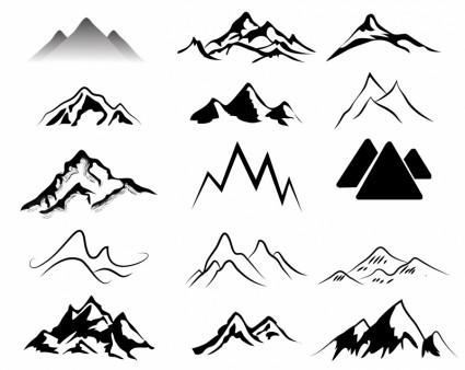 Pegunungansiluet Vektorvektor Gratis Download Gratis