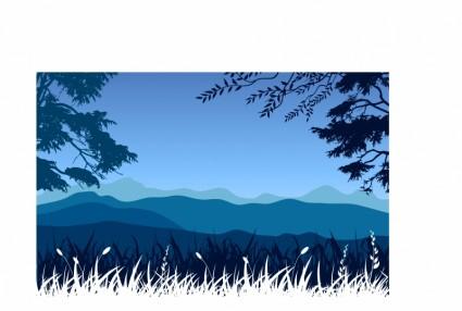 Pemandangan Pegununganvektor Lanskapvektor Gratis