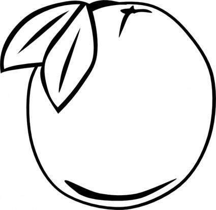 Orange Outline Fruit Clip Art-vector Clip Art-free Vector