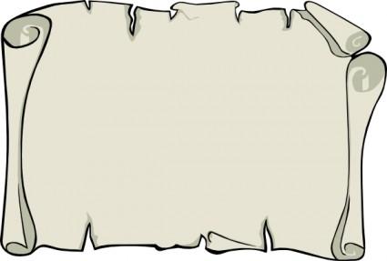 Pergament Papier Landschaft ClipArt Grafik Vektor ClipArt