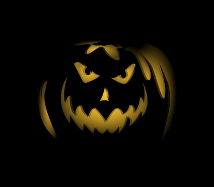 scary dark night pumpkin ghost