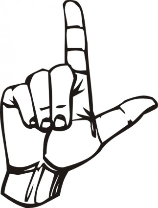 Sign Language L Clip Art-vector Clip Art-free Vector Free