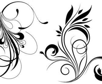 การ์ตูนลายเส้นเวกเตอร์ลายดอกไม้ลายนกดอกไม้-เวกเตอร์ดอกไม้
