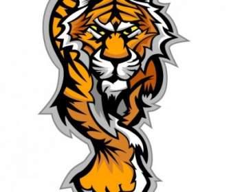 Tiger Ikon Kepala Bahanvektor Iconvektor Gratis Download