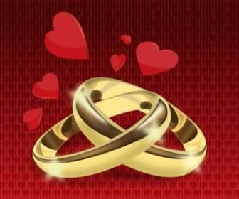 Gold Hochzeit Ringe ClipArtVektorClipArtKostenlose Vector Kostenloser Download