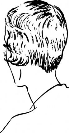 Woman S Bob Haircut Rear Clip Art-vector Clip Art-free