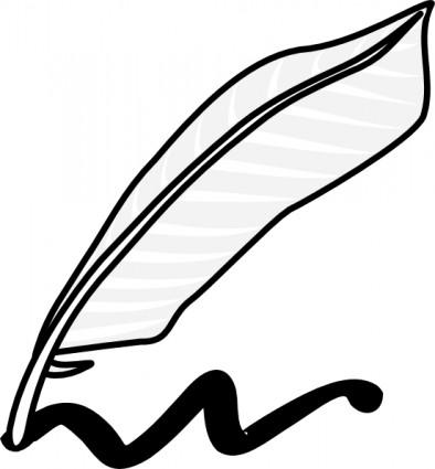 Schreiben Mit Einer Feder Und Tinte-ClipArts-Vektor