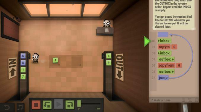 Human Resource Machine screenshot 1