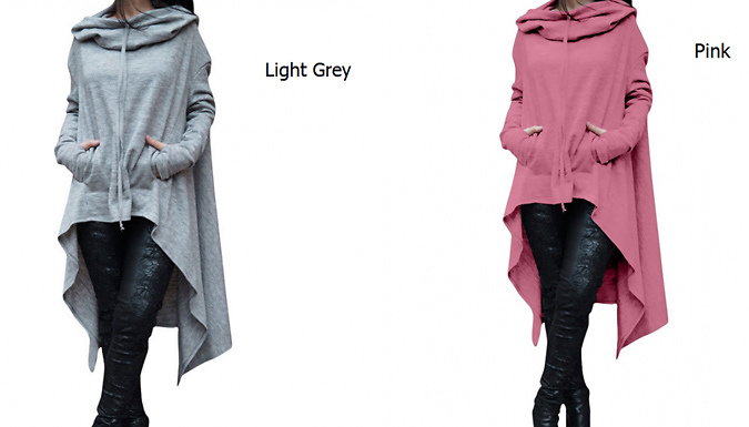 Womens Batwing Hooded Jumper - 9 Colours