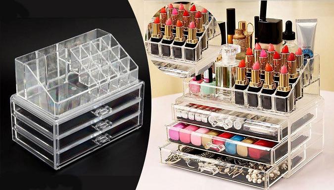 Clear Acrylic Make-Up Organiser