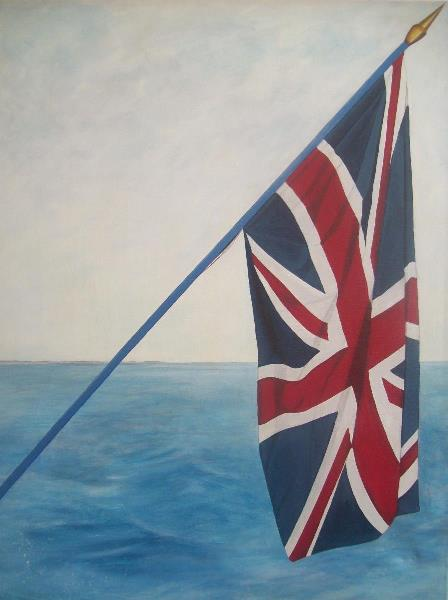 Image result for the union jack at sea